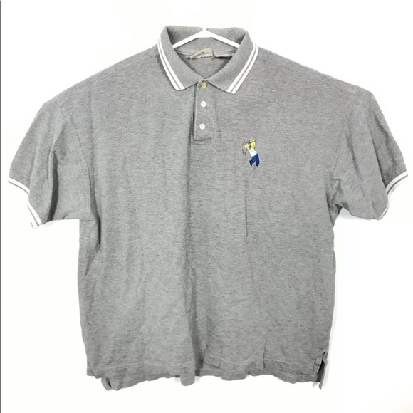 Vintage The Simpsons Homer Simpson Golf Polo Shirt